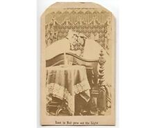 MOM AND POP IN STOCKING CAPS, PAJAMAS AND BED - ANTIQUE CDV