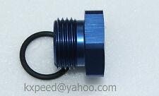 -8AN 8 AN Flare Plug Fitting with O Ring seal Aluminum -8 AN plug