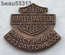 HARLEY DAVIDSON HEAVEN DAYTONA 200 RACING 1983 PRE-HOG HAT VEST JACKET TAC PIN