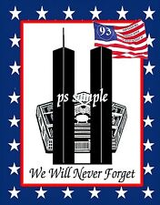 9/11 Memorial - Flexible Fridge MAGNET - Word Trade Center, Pentagon, Flight 93
