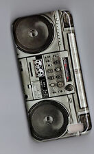 BOOM BOX MUSIC TAPE PLAYER  Retro  Hard Cover Case iPhone 5  +screen protector