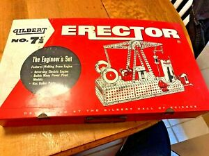 Gilbert Vintage Engineers Erector Set # 7 1/2/Box