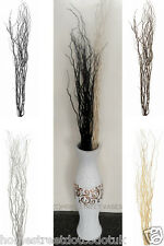 Contorted Twisted Willow Twigs Bunch for Tall Floor Vases Black Gold Silver Ecru