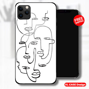 Face Picasso Art Faces Glass Phone Case Samsung Huawei iPhone Xiaomi Gift Idea