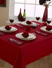 """A Round/Circular Plain Linen Look Tablecloth 69"""" (175cms) in 5 colours"""