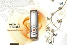 ORIGINAL Nokia 7380 White Amber Gold 100% UNLOCKED Cellular Phone Warranty FREE