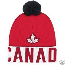 Team Canada Adidas 2016 World Cup of Hockey Pom Beanie - NEW