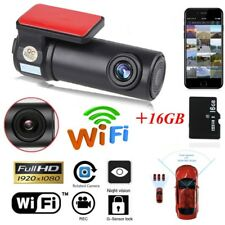 1080P HD WIFI Car Taxi Dash Cam Camera Recorder IOS Android APP+16GB SD Card UK