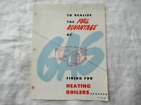 1955 Gas firing heating boilers brochure Webster Engineering Co