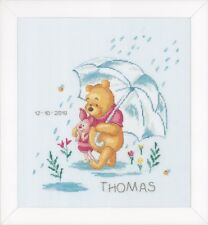 WINNIE THE POOH /& GANG BIG SIZE 71x50cm PARTIAL DRILL ROUND