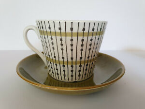 GEFLE SWEDISH MAJLIS LARGE BREAKFAST TEA CUP and SAUCER designed by AUTHUR PERCY