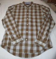 Men's Tommy Hilfiger Long Sleeve shirt S Custom Fit 78B3726 245 brown plaid
