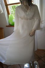 Prachtvolles Plissee-Traum Nylon Nachtkleid Negligee doppelt Engel Luxus M