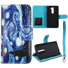 For LG G2 D802 Starry Night Style Flip Wallet Leather Case Cover Glob