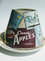 Yankee Candle Large Jar Shade Topper & Plate Vtg Summer Boardwalk Fair Theme