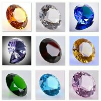 Round Crystal Diamond Paperweight Decor ( Multiple Color & Sizes ) US Seller