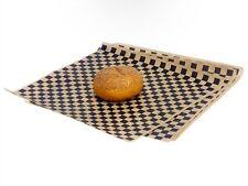 Fast Food Restaurant Grade Hamburger Paper Basket, Liner Black/Tan (Pack Of 100)