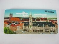 München Frauenkirche Rathaus Poly Panorama Magnet Relief,11 cm,Souvenir Germany