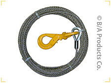 3/8 fiber core winch cable with self locking hoofor tow trucks wreckers rollback