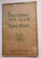 vintage 4-H club song book/paperback/1929