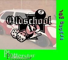 Old School cubo Lucky hater Pegatina Sticker Race Raser Fun JDM OEM Dub like