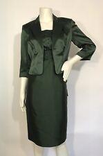 Adrianna Papell Occassion Emerald 2 Piece Beaded Sleeveless Dress Jacket Size 6