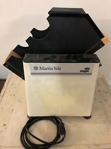 MARTIN-YALE Paper Tabletop Paper Check Jogger 400 - Works Great!