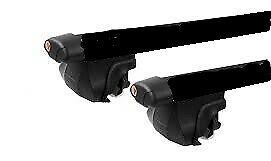 2x BLACK cross bar roof racks for Nissan Qashqai 2013 - 18 ,  with key access