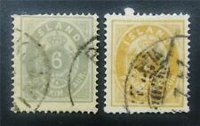 nystamps Iceland Stamp # 10,15 Used $65 J15y888