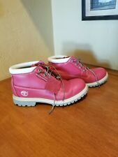 Timberland Pink Leather Boots Size 7.5