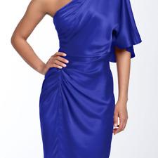 Aiden Mattox Blue Silk one shoulder DRESS sz 8
