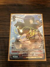 "Weiss Schwarz ""Resisting Fate"" Mikasa Attack on Titan EN FOIL SIGNED MINT"