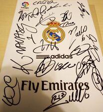 Lamina Firmada REAL MADRID