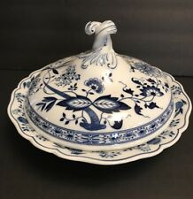 HUTSCHENREUTHER SELB BLUE ONION ROUND COVERED VEGETABLE CASSEROLE