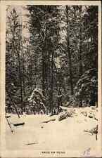 """1916 Feldpostkarte Stempel der 47. Reserve-Division auf AK """"Nahe am Feind"""" 1. WK"""