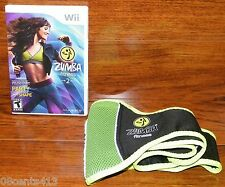 "Zumba Fitness 2 (Nintendo Wii) w/ Fitness Light Weight Belt! ""Party Into Shape"""