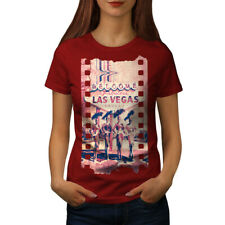 Wellcoda Welcome To Las Vegas Womens T-shirt, Nevada Casual Design Printed Tee