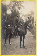 """cpa Carte Photo MILITAIRE SOLDAT du 19e Régiment """" Chasseur à Cheval ? """""""