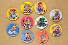 Rat Fink Buttons X 10 Pins 1.25 Inch  EXCELLENT QUALITY ed roth hot rod decal