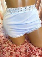 Vintage Olga 00873 High Waist Sheer Lacy Nylon Panties Size 5 Small NWOT