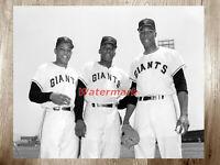MLB San Francisco Giants Mays Kirkland McCovey 8 X 10 Photo Picture