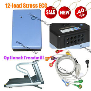 CONTEC8000S 12-lead Wireless Stress ECG/EKG test System Recorder PC Software New