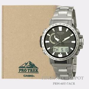 Authentic Casio Pro Trek Mens Atomic Solar Power Triple Sensor Watch PRW60T-7A