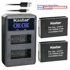 Kastar Battery LCD Dual Charger for LPE17 Canon EOS RP Mirrorless Digital Camera