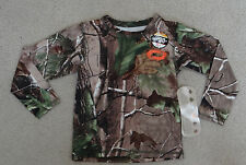 NWT O'RAGEOUS Boys' Realtree camouflage APG long Sleeve Rash Guard, size 5-6