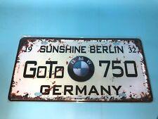 Goto 750  Metal Car Decorative License Plate United States Home Decor Signs
