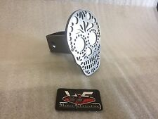 "Sugar Skull Hitch Cover - Two Layer - 1/8"" Steel - Tow Towing Reese Custom"