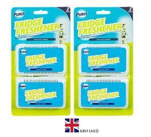 4x FRIDGE FRESHENER Deodoriser Kitchen Air Remove Smell Eliminate Odour GM497 UK