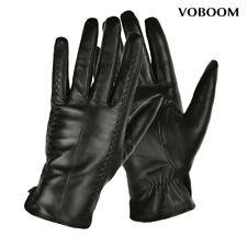 100% Schafspelz Handschuhe Schwarz Damen Leder Handschuhe Winter Winddicht JM01