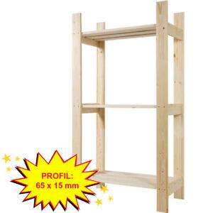 Standregal 3 Böden Holzregal Haushaltsregal Badregal Kiefer Holz Sauna Regal